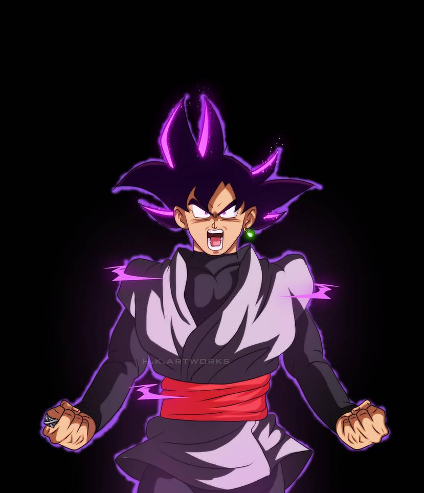 Goku Black : Shintani Style (Mid-Transformation) by Hkartworks99