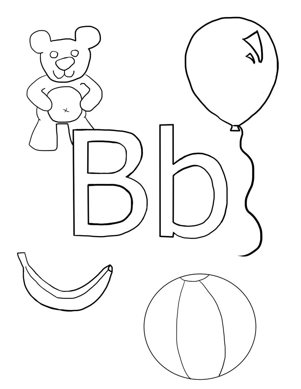 Letter B Coloring Sheet By AudioBot11 On DeviantArt