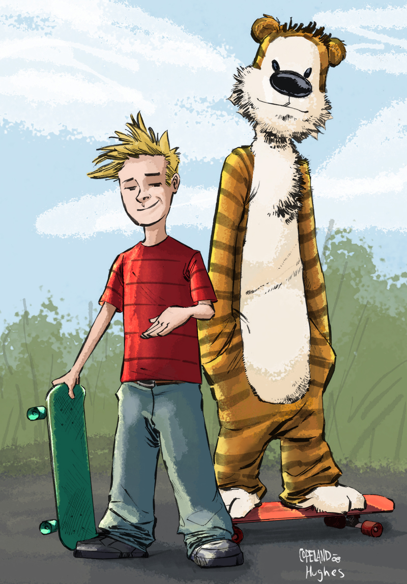 Calvin and Hobbes by RossHughes