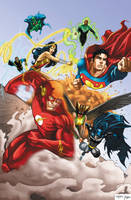 Justice League v1 by RossHughes