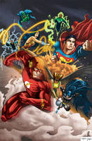 Justice League v2 by RossHughes