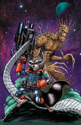 Rocket Groot by RossHughes