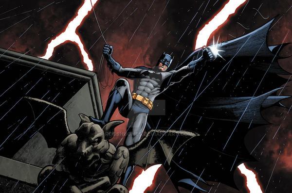 Batmangargoylerain RH by RossHughes
