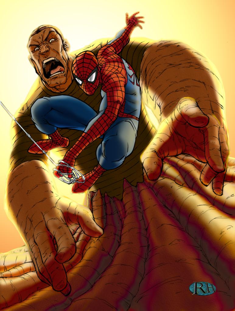 Spiderman vs. Sandman by RossHughes on DeviantArt