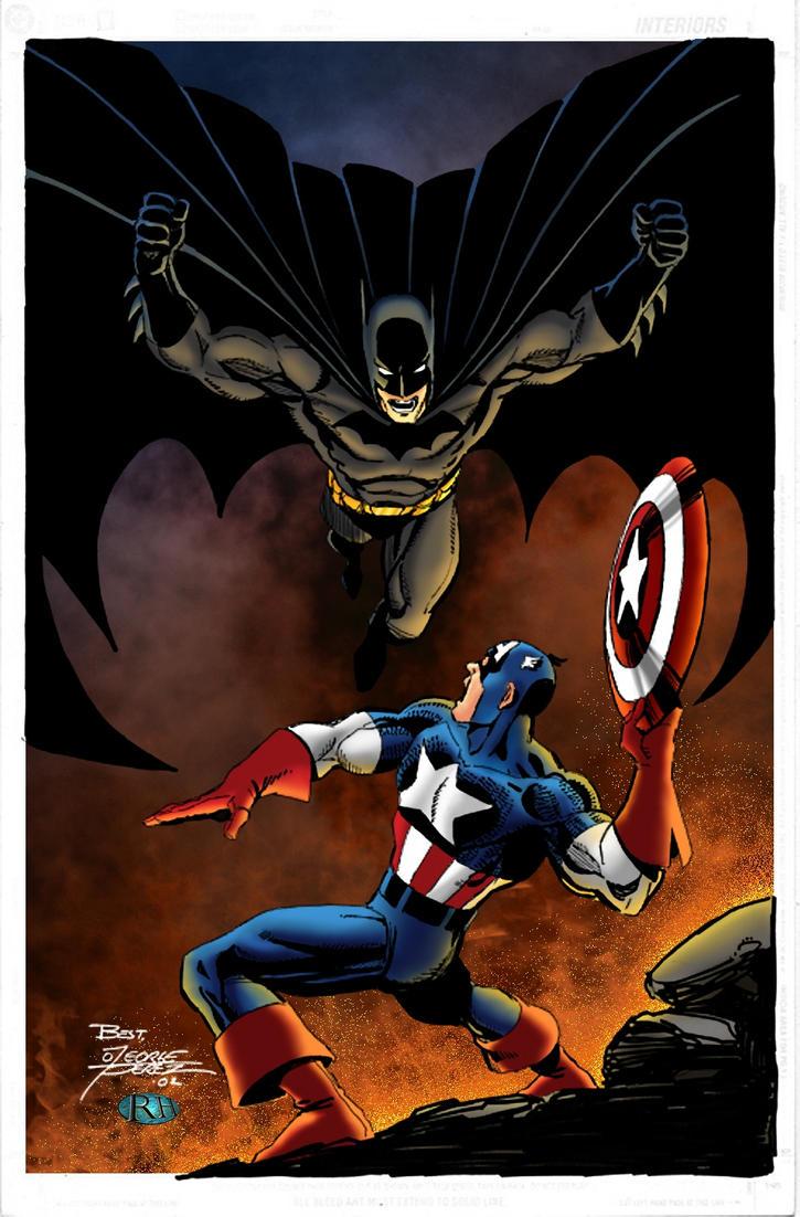 batman vs captain america by rosshughes on deviantart