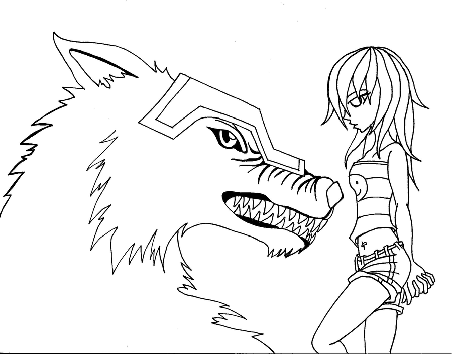 Chibi Werewolf Coloring Pages