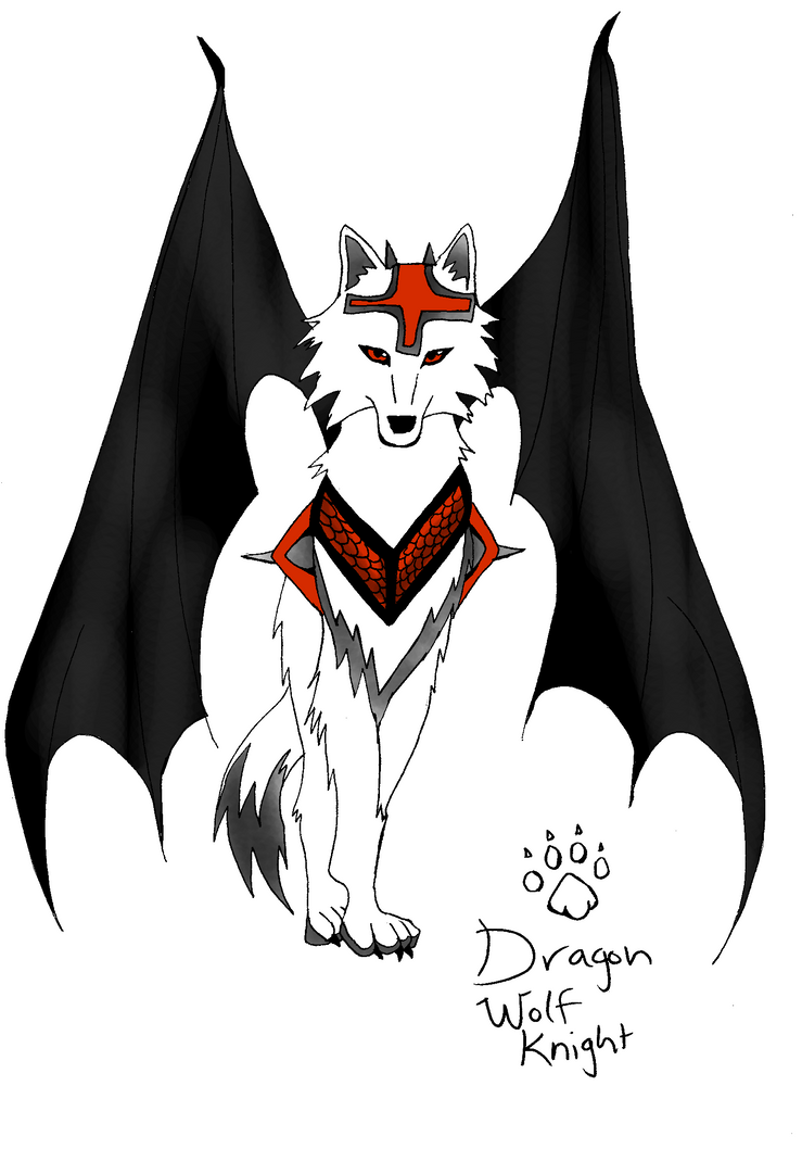 Logo With Red n Red n Black Dragon Wolf Knight