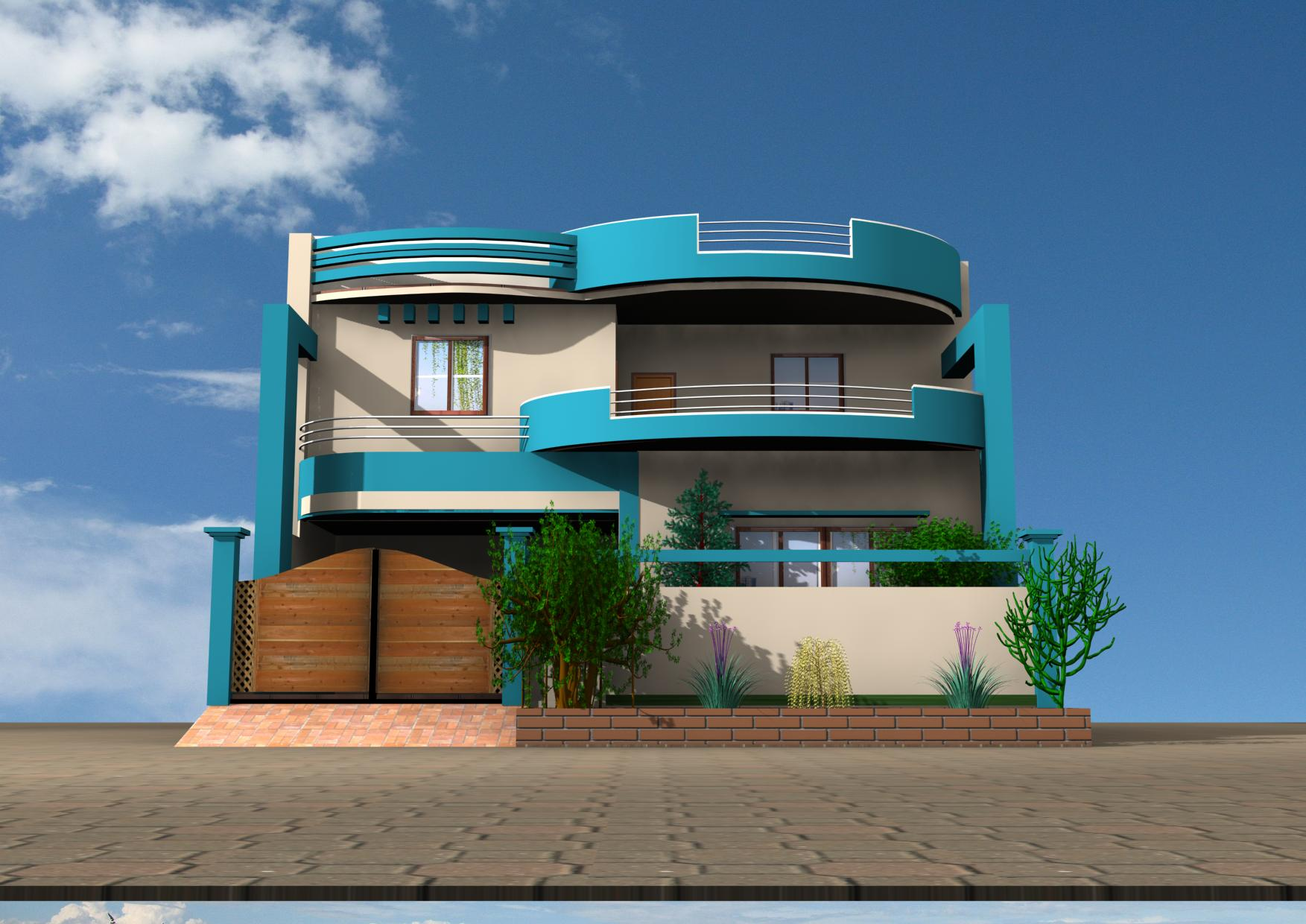 together with 3d house - photo #1