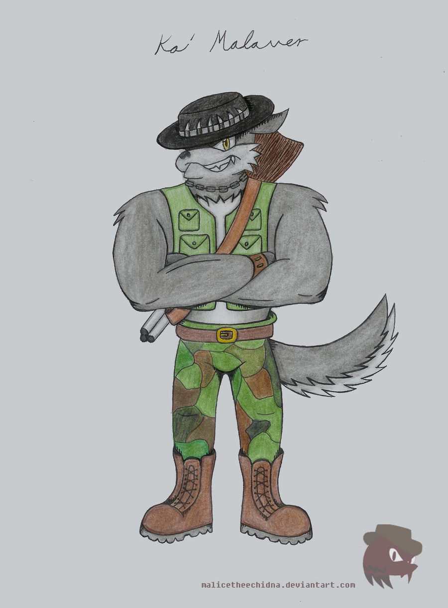 Kai Malaver the Wolf: Colored Original by FireheartTheInferno