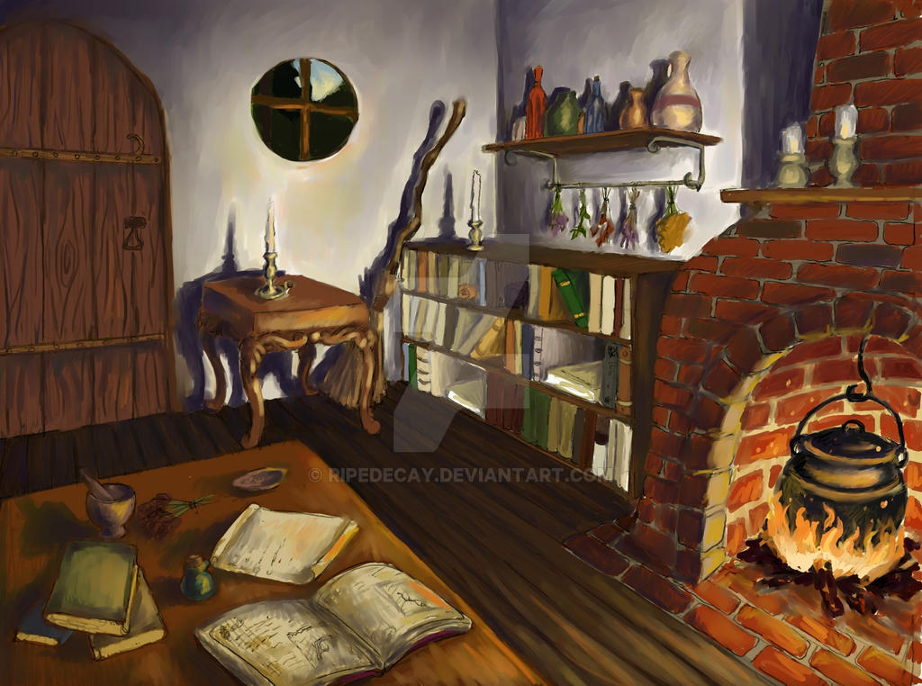 Witchs Cottage Interior By RipeDecay On DeviantArt