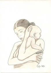 Faire part de naissance by Delfine-S-Kanashii