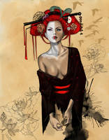 Geisha by Delfine-S-Kanashii