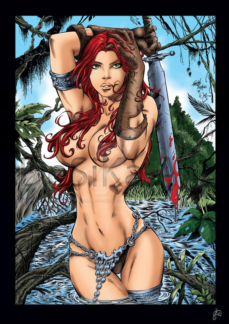 Red Sonja by Delfine-S-Kanashii