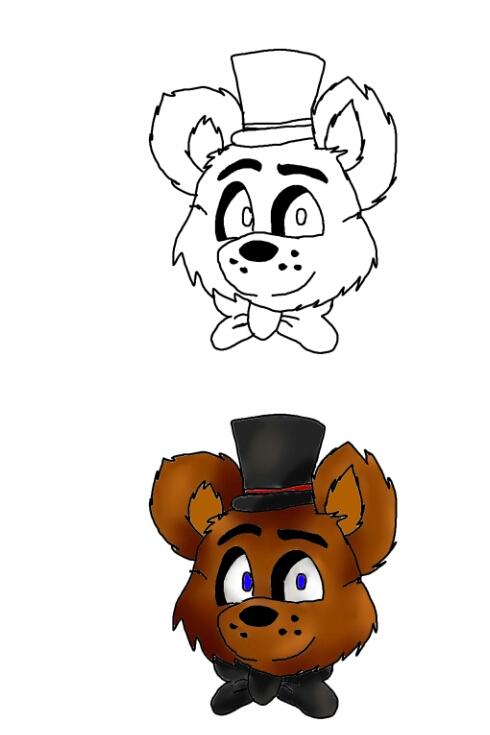 How to draw Freddy Fazbear (3/3) by SkyBoss31 on DeviantArt