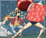 One piece: Luffy Nami Franky