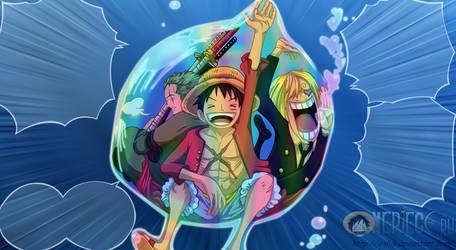one piece Zoro Sanji Luffy by ioshik