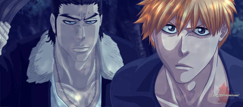 Ginjo and  Ichigo by ioshik