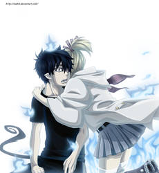 Rin and  Shiemi by ioshik