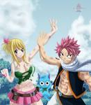 Lucy and Natsu by ioshik