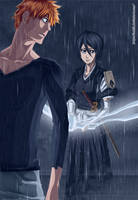 Rukia and Ichigo by ioshik