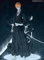 Ichigo and Rukia by ioshik