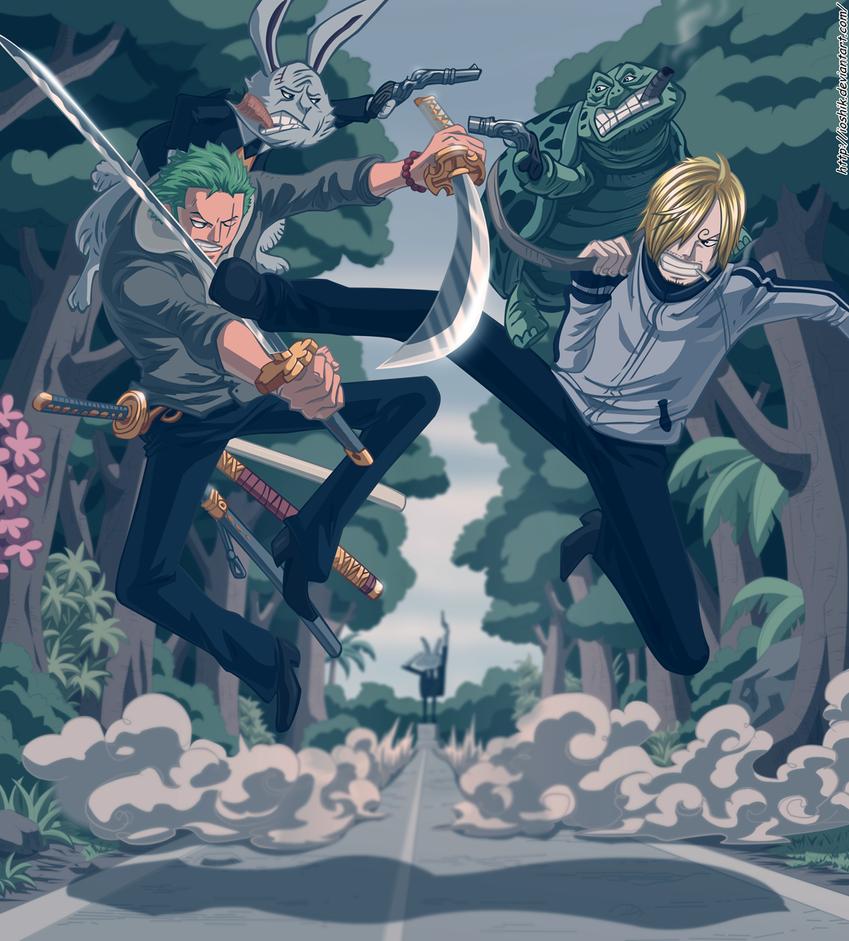 one piece : Roronoa Zoro and Sanji by ioshik