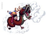 monkey d luffy and  Momonosuke by ioshik