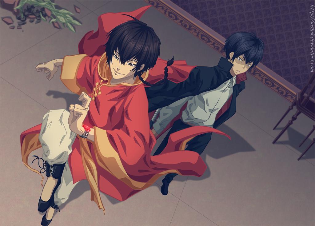 Dragon Rojo&Negro { ID } ¿Come On? {Construcción} Kyoya_hibari_and_fon_by_ioshik-d5j7544