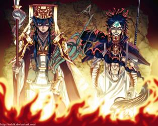 Judal and Hakuryuu Ren by ioshik
