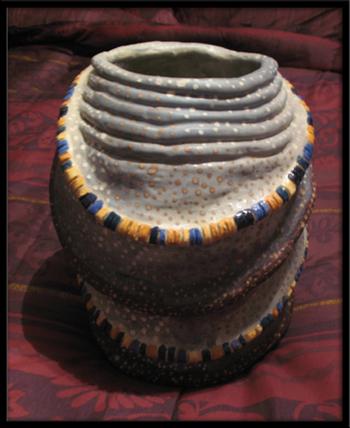 African Beaded Matrimonial Pot