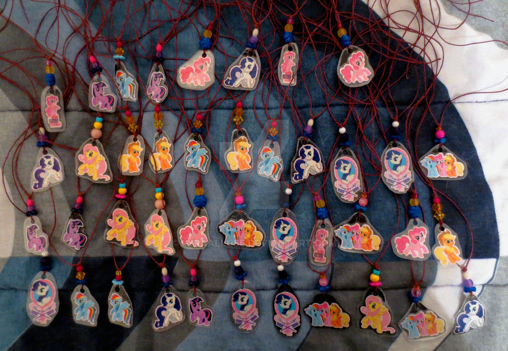 MLP Character Necklaces by LyraAlluse