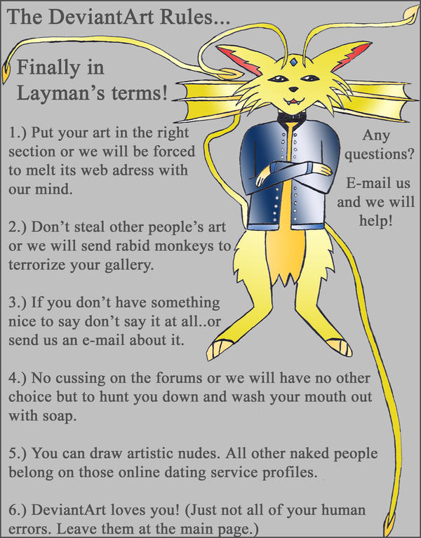 Dev Art Rules: Layman's Terms by LyraAlluse