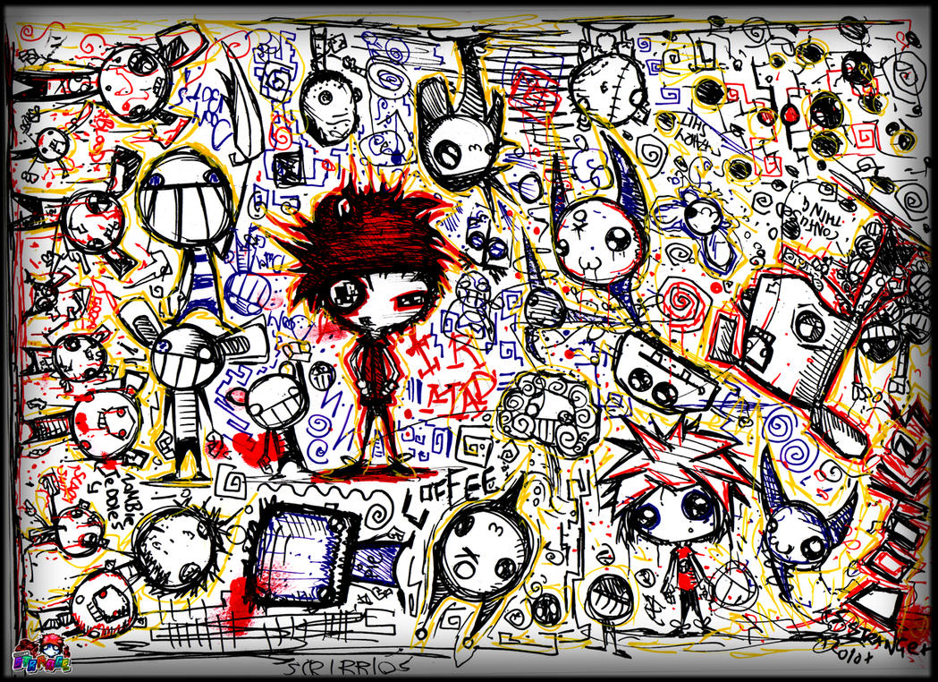 Scribble Explosion by SinclairStrange