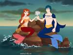 Romeo and Juliet as mermaids