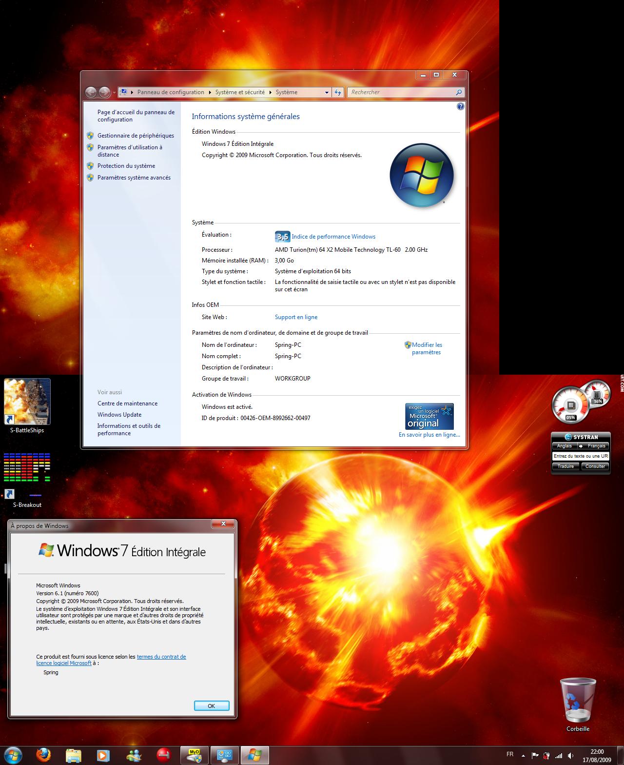 Desktop on Se7en RTM x64 by SpringsTS