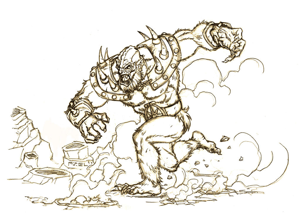 Battleground beast man by axel gimenez on deviantart for Beast quest coloring pages
