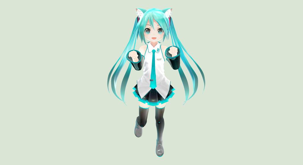 Hatsune Miku Appearance Chibi Neko by ElektricaMusica on ...