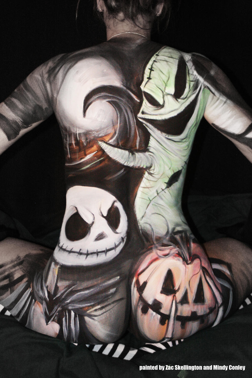 My Nightmare body paint by ZacConley