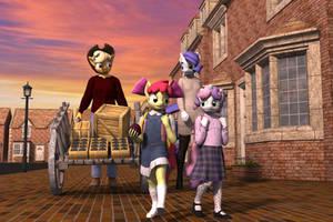 School Days by TheOwlGoesMoo