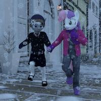 Dashing through the snow by TheOwlGoesMoo