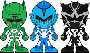 Chibi Jungle Fury Spirit Rangers
