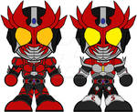 Chibi Kamen Rider Agito Burning and Shining Forms
