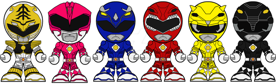 Chibi Mighty Morphing Power Rangers Movie Edition By Zeltrax987 On Deviantart