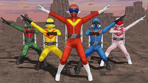 MMD NC - Himitsu Sentai GoRanger