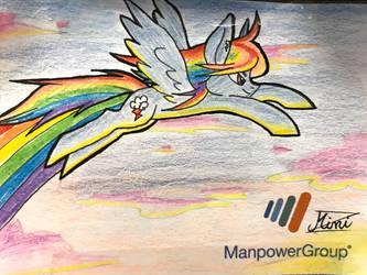 RainbowDash StickyNote by minizhirra