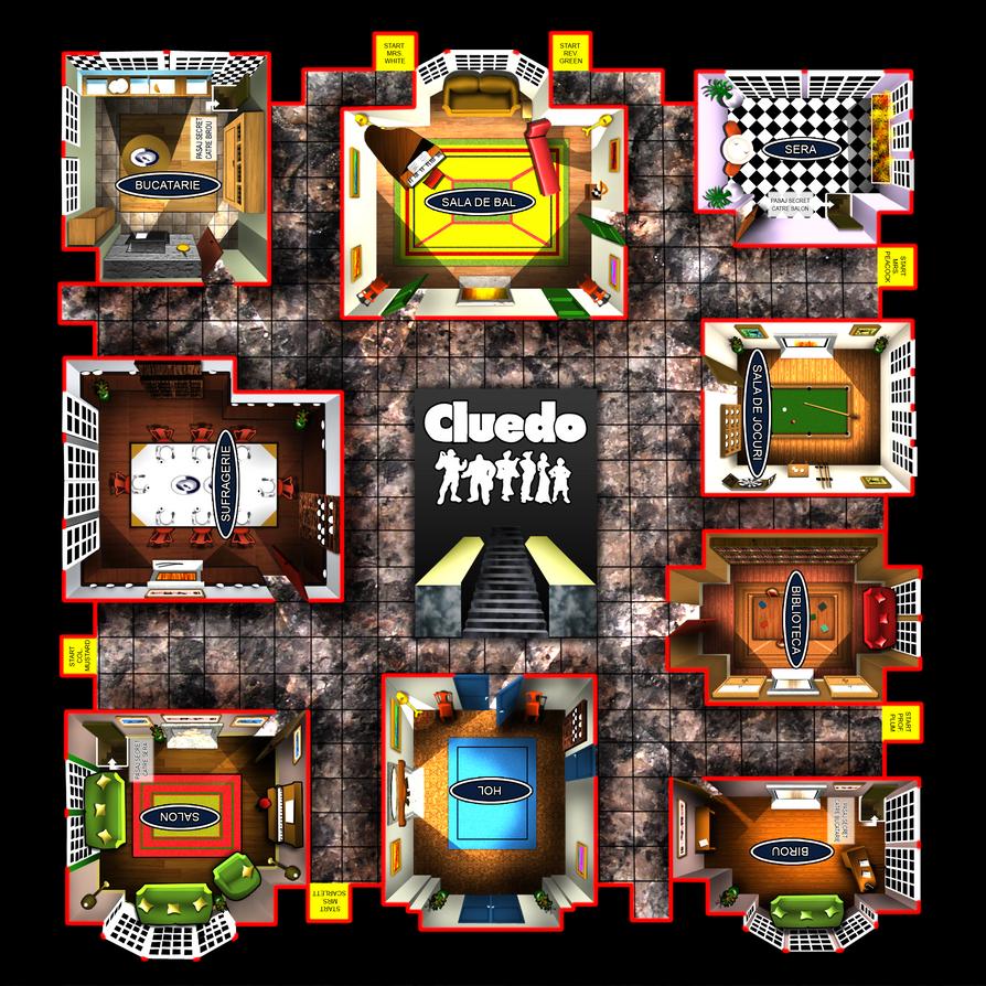 Rooms In Cluedo Board