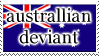 Australian deviant stamp by MimMagee