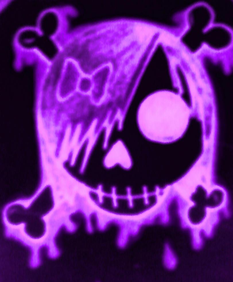 Pin Purple Skull on Pinterest