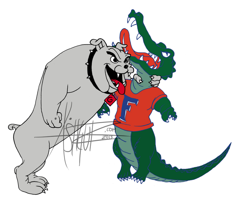 Georgia bulldog choking Florida gator commission by AshGUTZ on ...