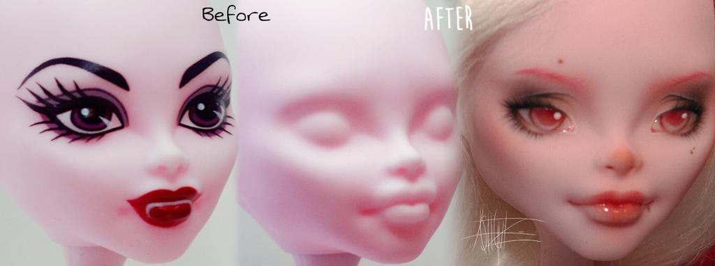 Monster High Create-A-Monster Vampire repaint by AshGUTZ
